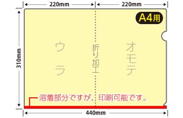A4クリアファイル オンデマンド印刷(小ロット)
