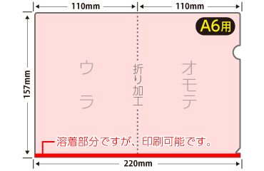 A6クリアファイル4種同時発注