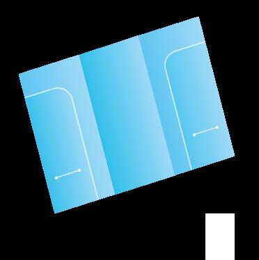 A4巻きダブルポケットファイル(名刺スリット入り)
